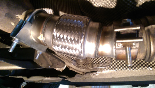 BMW 116D Exhaust Flexi Flex Easy Repair DPF, Cat Pipe, Catalyst ...