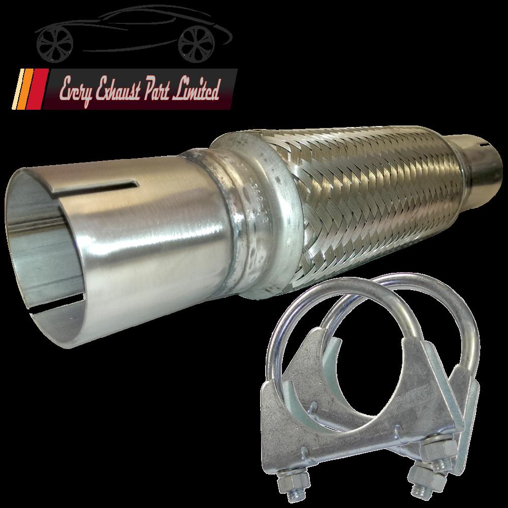 """1.7/"""" x 4/"""" échappement flexi tuyau flex joint 100mm x 45mm tube chat réparation fits bmw"""